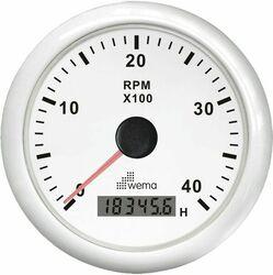 KIERROSLUKUMITTARI 4000 RPM, VALK.