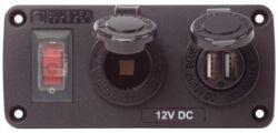 PISTORASIAPANEELI 12V + TUPLA-USB